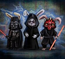 Sith Bunnies- Star Wars Parody by DianaLevinArt