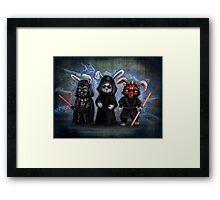 Sith Bunnies- Star Wars Parody Framed Print