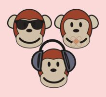 "Three Wise ""n"" Funky Monkeys Kids Clothes"