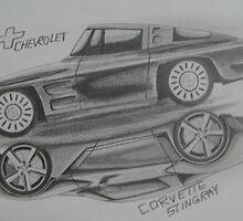 Corvette Stingray (old and new) by Gunnersgun