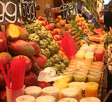 Boqueria market Barcelona - Colorful Juices by Ilan Cohen