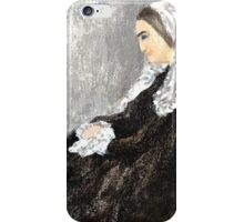 Woman with Robotic Dog iPhone Case/Skin
