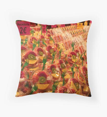 Boqueria market Barcelona - Tropical Fruits Throw Pillow