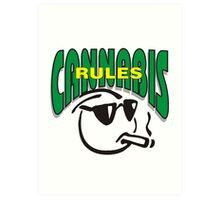 Cannabis Rules Art Print