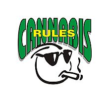 Cannabis Rules Photographic Print