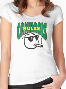 Cannabis Rules Women's Fitted Scoop T-Shirt