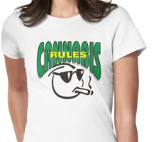 Cannabis Rules Womens Fitted T-Shirt
