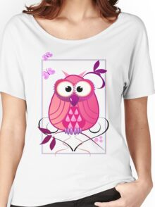 The Pink Owl Women's Relaxed Fit T-Shirt