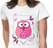 The Pink Owl Womens Fitted T-Shirt