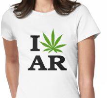 I Marijuana Arkansas Womens Fitted T-Shirt