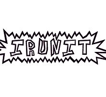 IRUNIT - Cartoons and Cereal (Black and Pink) by melissaross15