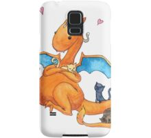 Charizard and Kittens Watercolor Samsung Galaxy Case/Skin