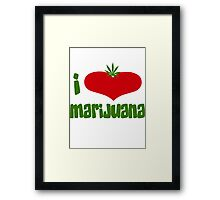 I Love Marijuana Framed Print