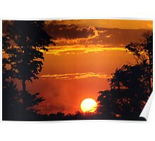 Sunset in Michigan Poster