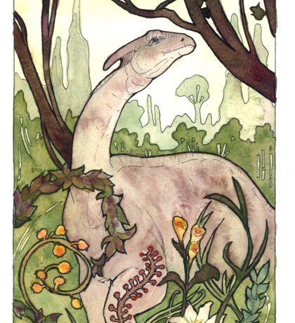 Parasaurolophus Watercolor Sticker