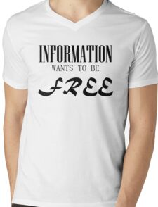 Information Wants to be Free Mens V-Neck T-Shirt
