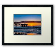 St Augustine Beach Pier at Dawn Framed Print