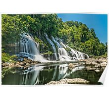 Twin Falls in Summer Dress Poster