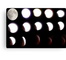Total Eclipse of The Moon Dec21 2010 Canvas Print