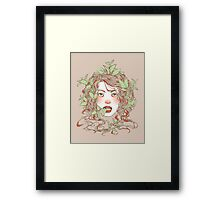 Peppermint Girl Framed Print