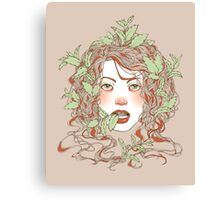 Peppermint Girl Canvas Print