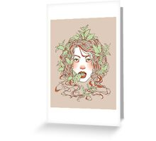 Peppermint Girl Greeting Card