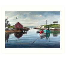 Tranquil Harbour Art Print