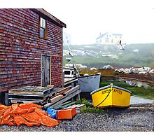 Yellow Skiff - Peggy's Cove Photographic Print