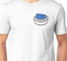 Curling Rock with Blue Handle Unisex T-Shirt