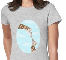 Mom and Baby Giraffe Womens Fitted T-Shirt
