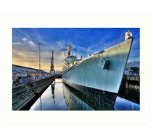 HMS Cavalier Chatham Historic Dockyard Art Print