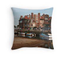 Blakeney Quay North Norfolk Throw Pillow