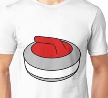 Curling Rock with Red Handle Unisex T-Shirt