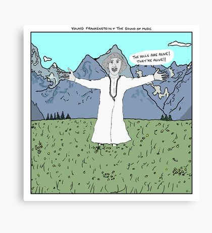 Young Frankenstein + The Sound of Music Canvas Print