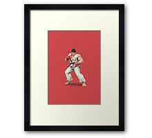 Ryu Super Smash Bros 4 Wii U 3ds Framed Print