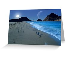 Beach Walkers Greeting Card