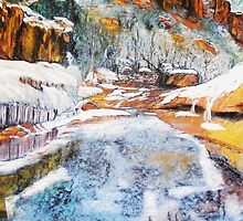Melting snows in High Country by David M Scott