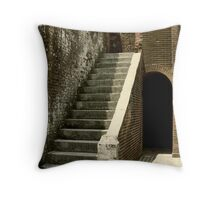 Staircase in Fort Pulaski Throw Pillow