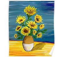 sunflowers in vase no.2 Poster