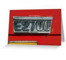 Mazda E2700 - The Emblem! Greeting Card