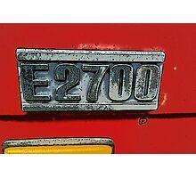 Mazda E2700 - The Emblem! Photographic Print