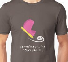Sometimes Wind Helps You Fly Unisex T-Shirt