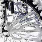 Snow on a bicycle wheel by BeardyGit