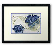 Sparkle in Blue Framed Print