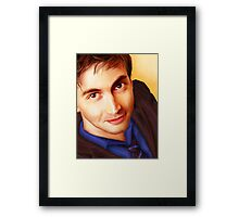 The Tenth Doctor Smiles Framed Print