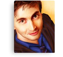 The Tenth Doctor Smiles Canvas Print