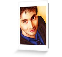 The Tenth Doctor Smiles Greeting Card