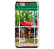 Red Roof Cabin iPhone Case/Skin