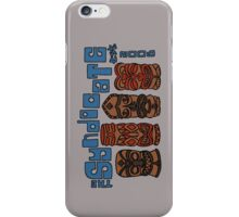 Syndicate Tiki - Blue Outline iPhone Case/Skin