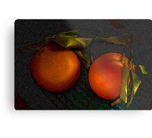 Fresh oranges Metal Print